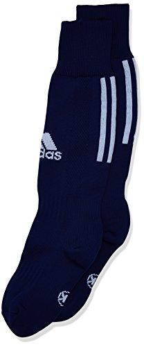 adidas Kinder Santos 3-Stripe Stutzen, Dark Blue/White, 27-30