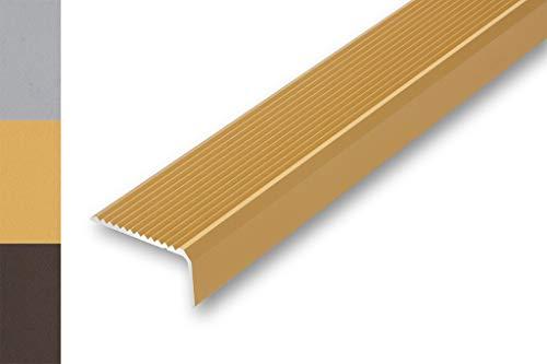 Treppenwinkel 30 x 32 x 1000 mm 6 Farben ungebohrt Kantenschutz Treppenkantenprofil selbstklebend Kantenwinkel | ungebohrt-selbstklebend gebohrt , gold 30 x 32 x 1000 mm