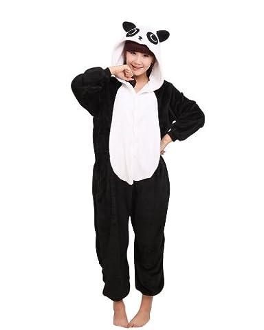 MissFox Kigurumi Pyjama Erwachsene Anime Cosplay Halloween Kostüm Kleidung Panda L (Jumpsuit Kostüm)