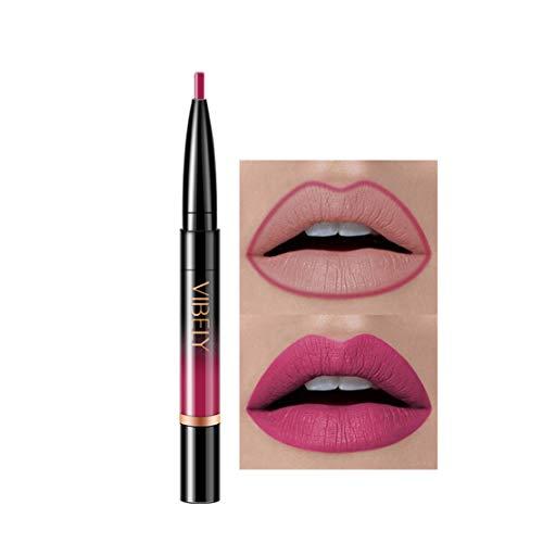 Kltipeng Double-end Lasting Lipliner Waterproof Lip Liner Stick Pencil 16 Color(L)