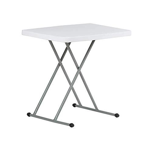 RLY Klapphubtisch, Klappbarer Weißer Kunststofftisch, Laptop-Tisch, Picknick-Hubtisch Für Den Außenbereich, Multi-Position Einstellbar
