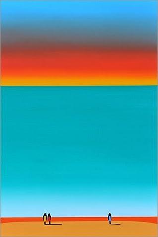Leinwandbild 40 x 60 cm: BY THE SEA von HADYPHOTO by Hady Khandani - fertiges Wandbild, Bild auf Keilrahmen, Fertigbild auf echter Leinwand, Leinwanddruck