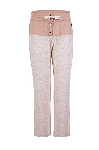 super.natural Damen W COMFORT Pants Merino Jogginghose W COMFORT Pants, Beige Melange/Line Preisvergleich