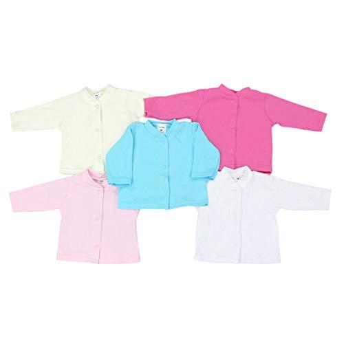 TupTam Unisex Babyjäckchen mit Druckknopfverschluss 5er Pack, Farbe: Mädchen, Größe: 62