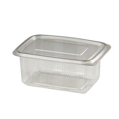 100 contenitori per alimenti cc 750 in pet vaschette rettangolari per alimenti+ coperchio per insalate e macedonie salads containers for food use