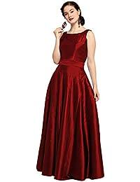 Inddus Women's Silk Long Maxi Dress
