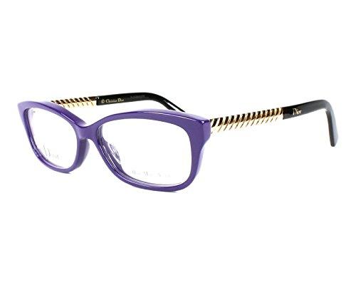 Dior Für Frau Cd3258 Violet / Gold Kunststoffgestell Brillen, 52mm