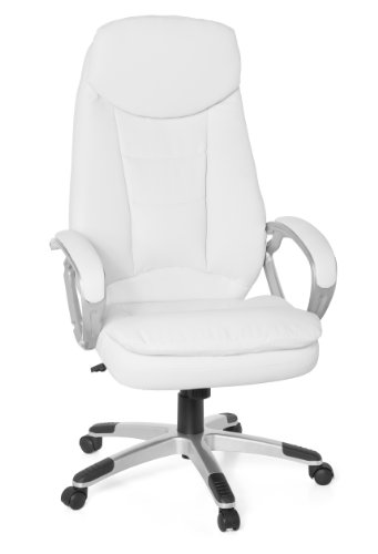 Amstyle Cosenza SPM1.130 Executive Office Chair Imitation Leather White