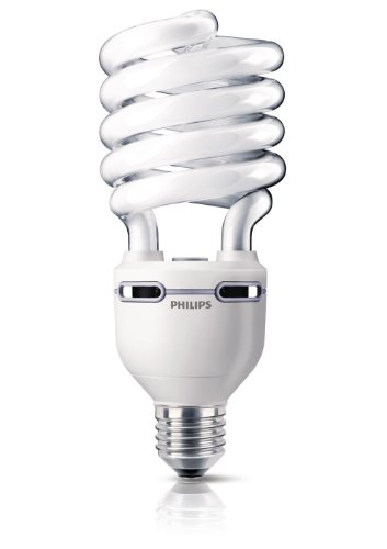 Philips Tornado Spiral Energy Saving Lamp - LARGE ES E40 - 75W Power Consumption with 280W Light Output - Cool White 4100K High Lumen, Code: 808834 - PLEASE CHECK SIZE BEFORE ORDERING [Energy Class A] - Cool White High Output