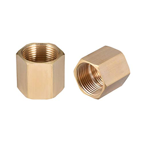 Brass Coupling (ZCHXD Brass Hex Rod Pipe Fitting G 3/4 Female Thread Straight Coupling 2pcs)