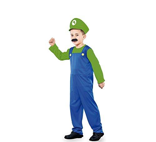 Luigi Kostüm Weiblich - Fyasa 706394-t01Klempner Kostüm, grün, Medium