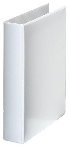 Esselte raccoglitore a 4 anelli personalizzabile, per presentazioni, formato a4 maxi, dorso 6.3 cm, polipropilene, bianco, essentials, 49704