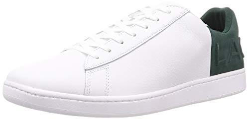 Lacoste Carnaby EVO 419 2 SMA, Zapatillas para Hombre, Blanco Wht/Dk Grn 1r5, 45 EU