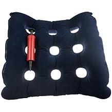 Halovie Almohada aire inflable cojín de médicos coxis Ortopédico amortiguador almohadilla para silla de ruedas Cojín asiento Alivia el Dolor y Corrige la Postura
