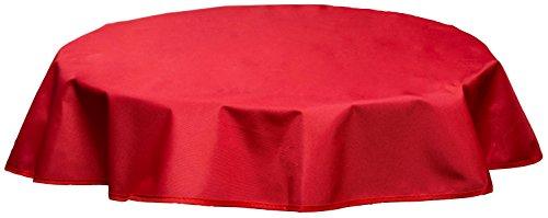 beo Outdoor-Tischdecken wasserabweisende, rund, Durchmesser 120 cm, rot