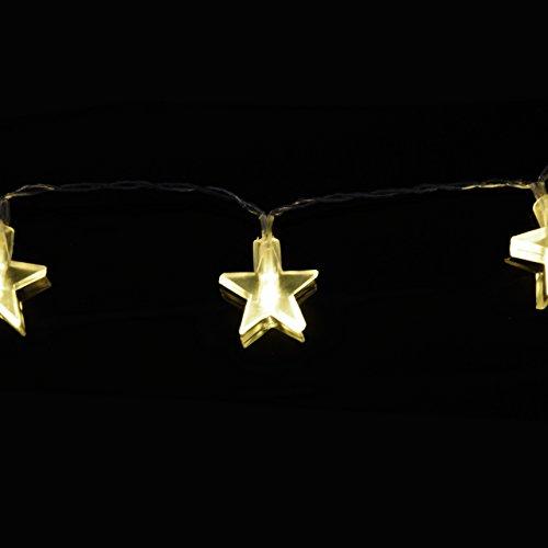 Lichterkette 20er LED warmweiß Stern Sternenlichterkette Weihnachten Batterie - 3