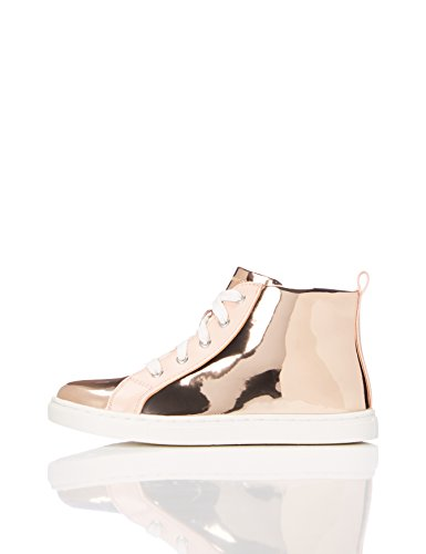 RED WAGON Mädchen Sneaker mit Metallic-Oberfläche, Gold (Rose Gold), 32 EU (High-top-rose)