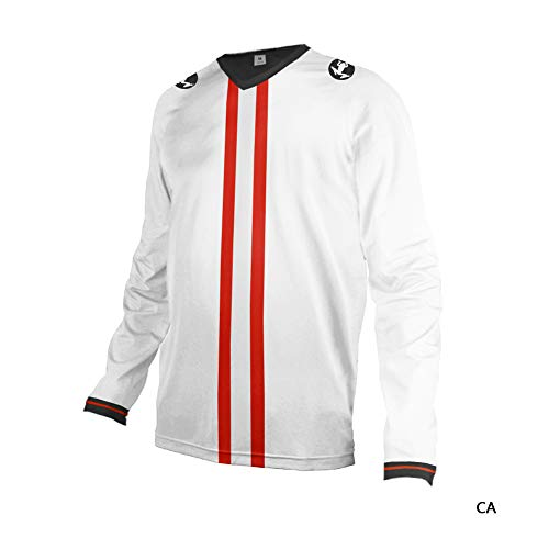 Uglyfrog-Vertikale Streifen Flaggendesign Herren Dünn T-Shirt Motorradjacke mit Protektoren - Textil Motorrad Jacke aus Cordura - Männer MTB Downhill Jersey Atmungsaktive Sleeve Jersey-jacke