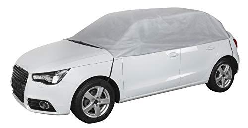 Walser 31016 Autoabdeckung Halbgarage Größe M hellgrau, wasserdichte Halbgarage, Staubdicht mit UV Schutz