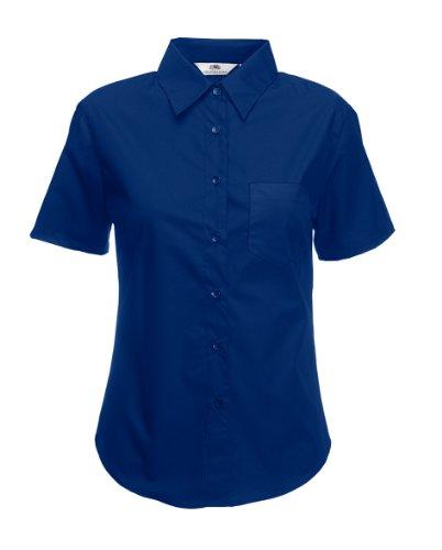 Damen Kurzarm Bluse Freizeit Business Shirt Hemd verschiedene Farben und Größen - Shirtarena Bündel Marine