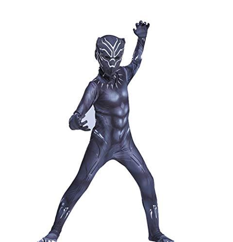 sener Performance-Kleidung Schwarze Pantherkleidung Anime Charakter Cosplay Strumpfhosen Halloween Feier Party Overall ()