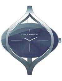 Ted Lapidus - B0219RNIX - Montre Femme - Quartz Analogique - Cadran Noir - Bracelet Autre Gris