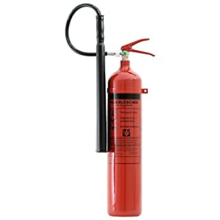 Feuerlöscher 5 kg CO² Kohlendioxid | EDV geeignet | DIN EN 3 + ANDRIS® Prüfnachweis mit Jahresmarke inkl. ISO-Symbolschild & GRATIS Textschild ,,Für EDV'