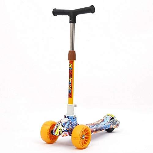 Mishuai Multifunktions-Roller für Kinder, der tragbare dreirädrige Roller-Spielzeug-Roller für Kinder faltet