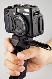 Maxsimafoto ®-Pistolengriff mit Auslöser für die Aufnahme von videos, für Canon PowerShot G1 X, G9, G10, G11, G12, G15, G16 auch für 100D, 550D, 600D, 650D, 700D, 750, 760D T6i, T6, mit 18-55 mm Objektiv oder Kleineren. Powershot G11 Kit