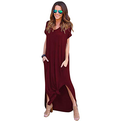 5d827c08f Vestido Mujer Verano Flojo Casual Largo Liso Tunica