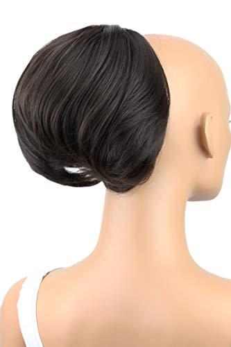 PRETTYSHOP Dutt Haarteil Zopf Haarknoten Hepburn-Dutt Haargummi Hochsteckfrisuren dunkelbraun #4 HD1 (Audrey Hepburn Kostüm Perücke)