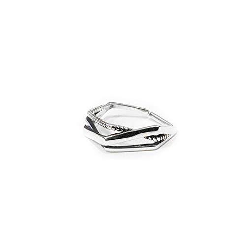WHX DamenRingeEdelstahl,Ring aus 925er Sterlingsilber Offener Diamantschmuck Herren- und Damen-Accessoires Für alle Gelegenheite
