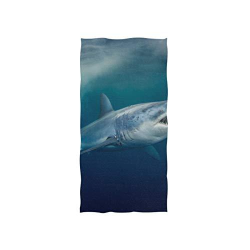 Fierce Awful Shark Soft Spa Badetuch Fingerspitze Handtuch Waschlappen Für Baby Erwachsene Badezimmer Strand Dusche Wrap Hotel Travel Gym Sport 30x15 Zoll