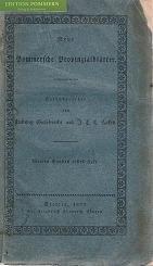 Neue Pommersche Provinzialblätter. 4. Band, 1. Heft
