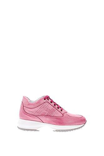 HXW00N00E30B0TM405 Hogan Sneakers Femme Cuir Rose Rose