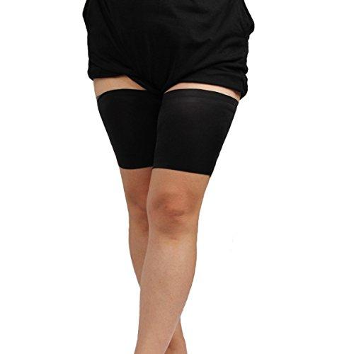 Pasabideak pizzo elastico coscia e fasce per evitare lo sfregamento e le irritazioni F Dimensioni: 73–78cm, Nero, E:68-73cm