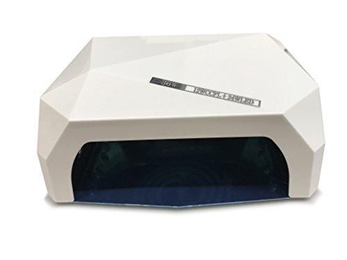 Cris Nails ® 36W Nagellampe CCFL CFL für UV-Shellac und Gel LED-Nageltrockner weiß (12w Cfl)