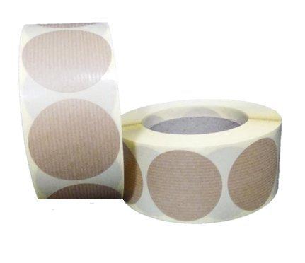 100 Etiquetas adhesivas redondas Kraft 5 x 5 cms