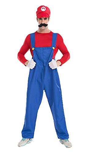 Kostüm Erwachsene Super Mario Kostüm Klassische Brüder Jungen Halloween Kind Erwachsene Cosplay KostümHalloween Cosplay Parte ()