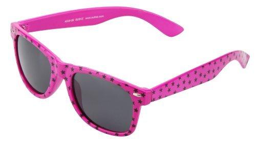 Sonnenbrille Nerdbrille retro Artikel 4026-50 pink / rosa mit Sternchen / Sterne / Stars / schwarz