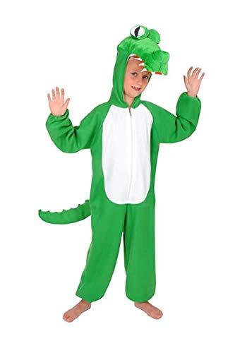 Neu Krokodil Kinder Kostüm Einheitsgrösse 86/ 92 Karneval Fasching Rummelpott Halloween