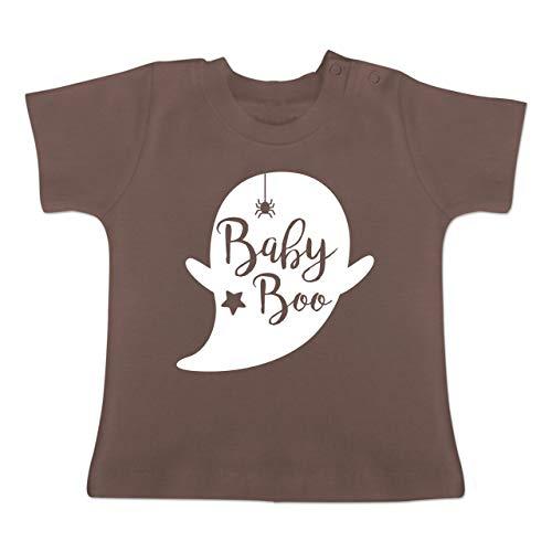 Anlässe Baby - Baby Boo Halloween Gespenst - 18-24 Monate - Braun - BZ02 - Baby T-Shirt Kurzarm