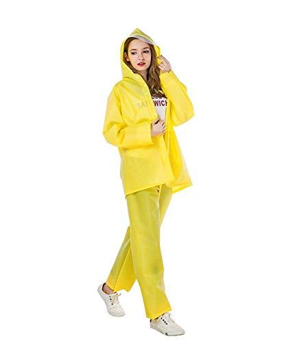 LULUDP Regenjacken Regenmantel wasserdichte Klage Regenbekleidung, Erwachsene Frauen im Freien Reise Regenanzug Ausrüstung Reiten Kleidung im Freien Poncho Wasserdichtes Regenmantel-Set