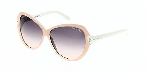 Tom Ford Sonnenbrille Valentina (60 mm) beige/weiß