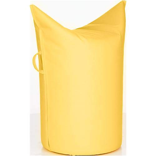 WERTHER Zipfelhocker Polsterhocker Sitzhocker Outdoor Lemon inkl. Griffschlaufe 3 Jahre Garantie Sitzhöhe 500 mm B 620 x T 360 x H 600 mm