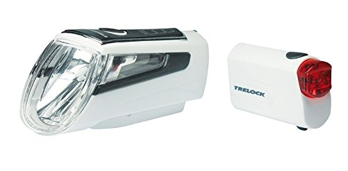 Trelock Batterie Beleuchtungsset LS 560 720 Weiß Beleuchtung, schwarz, 10 x 5 x 3 cm