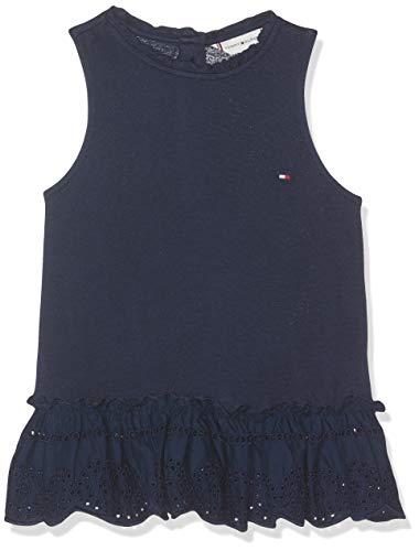 Tommy Hilfiger Tommy Hilfiger Baby - Mädchen Ruffle Collar SHIFFLEY Slvls Top, per Pack Blau (Black Iris 002), 86 (Herstellergröße: 86)