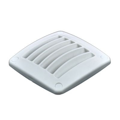 wellenshop Lüftungsgitter Kunststoff Weiß einfach 92 x 92 mm -
