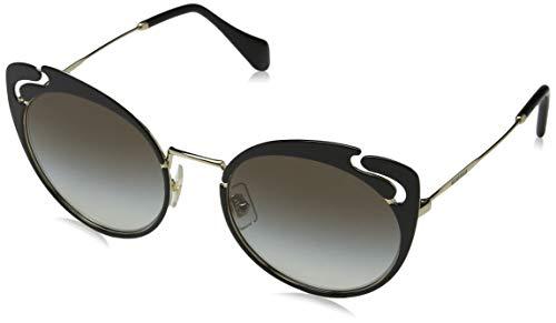 Miu Miu Sonnenbrillen Noir Evolution SMU 57T Black/Grey Shaded Damenbrillen