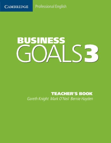 Business Goals 3 Teacher's Book (Cambridge Professional English) by Gareth Knight (11-May-2005) Paperback
